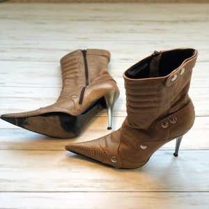 Aldo Tan Leather Ankle Boots